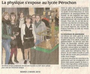 L'article de presse de l'exposition