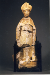 Vue d'ensemble de la statue de Saint Nicolas, avant restauration (MC.15203)