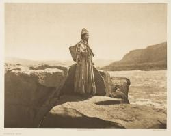 """Wishham Maid"" par Edward S. Curtis, photogravure, reproduction : Christian Vignaud"