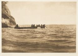 """The lower Columbia"" par Edward S. Curtis, photogravure, reproduction : Christian Vignaud"