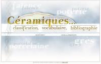 Céramiques : classification, vocabulaire, bibliographie (capture d'écran)